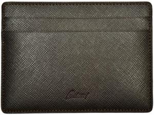 Brioni Wallet Multi Card Case Saffiano Leather Brown