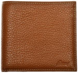 Brioni Wallet Bifold 8 Card Pebble Grain Leather Brown
