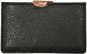 Brioni Wallet Card Case Pebble Grain Leather Black