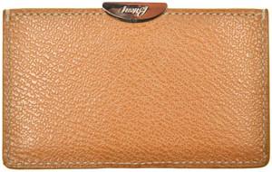 Brioni Wallet Card Case Pebble Grain Leather Brown