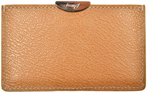Brioni Wallet Card Case Pebble Grain Leather Brown 03WA0140