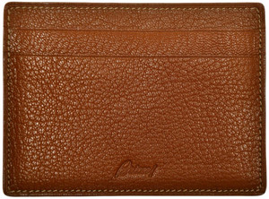 Brioni Wallet Card Case Pebble Grain Leather Brown 03WA0146
