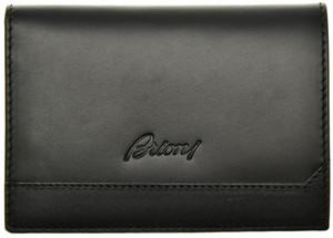 Brioni Wallet Bifold 8 Card Leather Black
