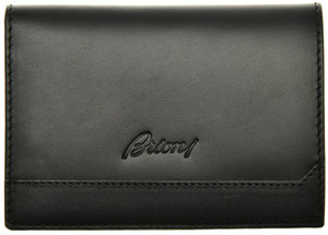 Brioni Wallet Bifold 8 Card Leather Black 03WA0150