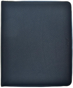 Brioni iPad Zip-Case Credit Card Document Holder Leather Blue 03WA0158