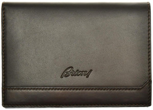 Brioni Wallet Bifold 8 Card Leather Dark Brown 03WA0157