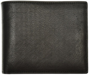 Brioni Wallet Bifold 6 Card B Logo Leather Black 03WA0154