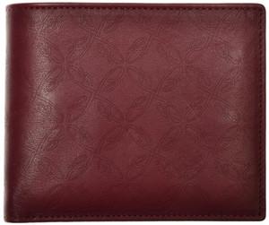 Brioni Wallet Bifold 6 Card B Logo Leather Dark Red