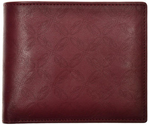 Brioni Wallet Bifold 6 Card B Logo Leather Dark Red 03WA0153