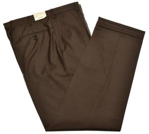 Brioni Pants 'Cortina' 150's Wool Size 34 Brown 03PT0153