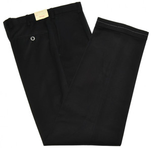 Brioni Pants 'Cortina' Soft Brushed Cotton Size 32 Black