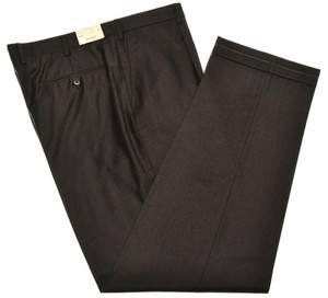 Brioni Pants 'Cortina' Light Flannel 150's Wool Size 48 Brown