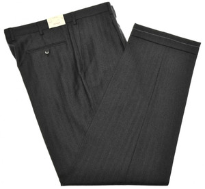 Brioni Pants 'Cortina' Wool Cashmere Size 37 Gray 03PT0168
