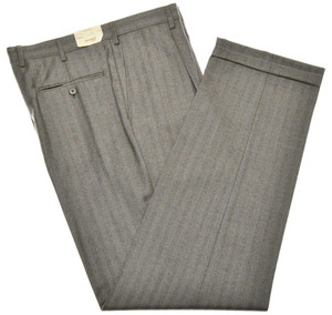 Brioni Pants 'Cortina' Wool Cashmere Size 37 Gray-Brown 03PT0165