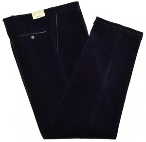 Brioni Pants 'Cortina' Corduroy Cotton Cashmere Size 40 Purple 03PT0162