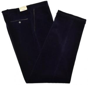 Brioni Pants 'Cortina' Corduroy Cotton Cashmere Size 38 Purple 03PT0161