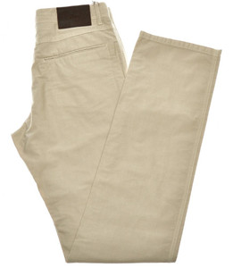 Brioni Jeans 'Sunset' 5 Pocket Cotton Size 40 Khaki Brown 03JN0388