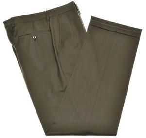 Brioni Pants 'Cortina' Super 140's Wool Size 30 Brown 03PT0191