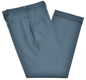 Brioni Pants 'Cortina' Super 140's Wool Size 30 Blue