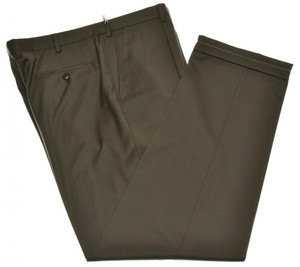 Brioni Pants 'Cortina' Super 140's Wool Size 42 Brown