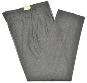 Brioni Pants 'Cannes' Light Flannel 120's Wool Size 38 Gray