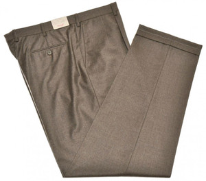 Brioni Pants 'Cortina' Light Flannel 150's Wool Size 42 Brown