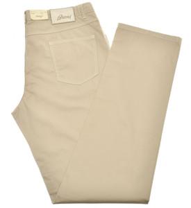 Brioni Jeans 'Etna' 5 Pocket Cotton Stretch Size 40 Khaki Brown