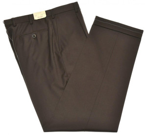 Brioni Pants 'Cannes' Super 130's Wool Size 32 Brown