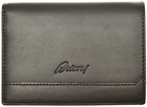 Brioni Wallet Bifold 8 Card Leather Brown