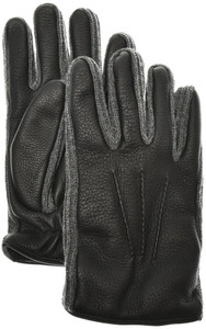 Brioni Gloves Handmade Leather Cashmere Size 9 Black