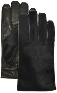 Brioni Gloves Handmade Pony Hair & Leather Size 9.5 Black