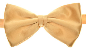 Brioni Bow Tie Silk Gold-Yellow