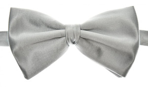 Brioni Bow Tie Silk Blue-Gray