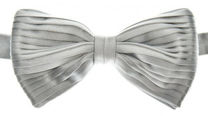 Brioni Bow Tie Pleated Silk Blue-Gray