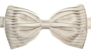 Brioni Bow Tie Pleated Silk Gray