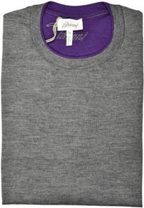 Brioni Sweater Crewneck Cashmere Silk Size XLarge Gray