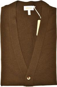 Brioni Sweater Cardigan Wool Size XLarge Brown