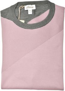 Brioni Sweater Crewneck Cotton Silk Size Large Purple