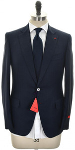 Isaia Suit 'Gregorio' 2B Aquaspider Wool 160's Size 38 Blue