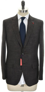 Isaia Suit 'Sanita' 2B Wool Blend Size 40 Brown Melange