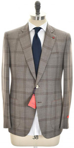 Isaia Suit 'Gregory' 2B Aquaspider Wool 160's Size 40 Brown