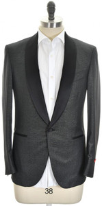 Isaia Tuxedo Formal Sport Coat Jacket 'Sanita' Size 38 Black