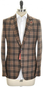 Isaia Sport Coat Jacket 'Cortina' 2B Wool Blend Size 40 Brown