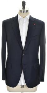 Isaia Sport Coat Jacket 'Sanita' 2B Aqua Wool 160's Size 42 Blue