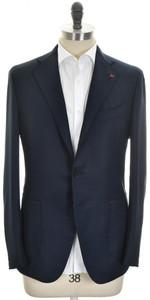 Isaia Sport Coat Jacket 'Tenero' 3B Unlined Wool Size 44 Blue