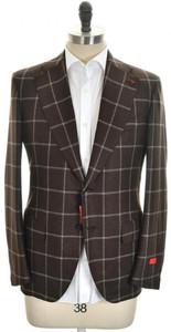 Isaia Sport Coat Jacket 'Base E' 2B Brushed Wool Size 42 Brown