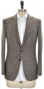 Isaia Sport Coat Jacket 'Sanita' 2B Wool Cashmere Size 38 Brown