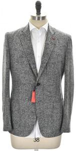 Isaia Sport Coat Jacket 'Posillipo' 2B Wool Blend Size 40 Gray