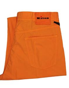 Kiton Napoli Jeans Cotton Poplin 33 49 Orange