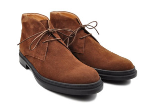 Tod's Shoes Chukka Boots Suede Leather 7 UK 8 US Brown 31SO0101